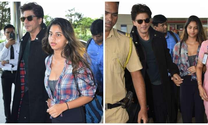 Shah Rukh Khan and Suhana Khan