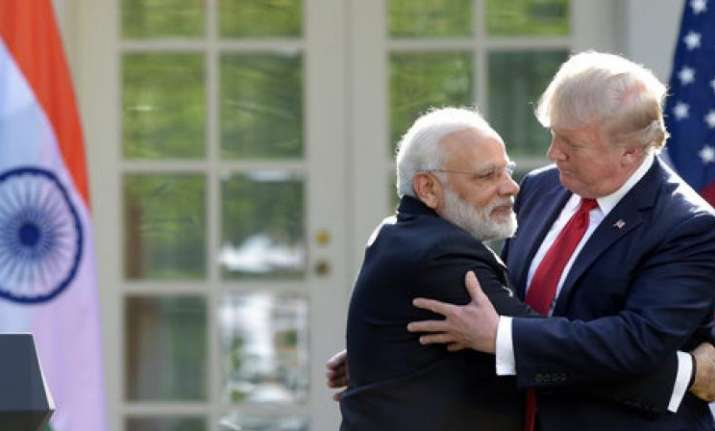 PM Modi and President Trump - File pic