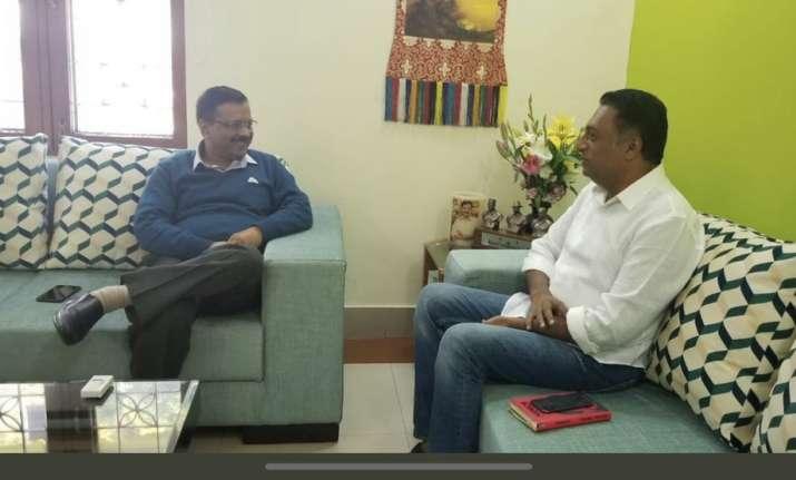 Delhi CM Arvind Kejriwal and Actor Prakash Raj