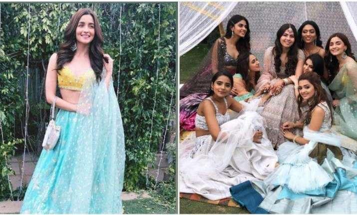 Pics In Sky Blue Lehenga Alia Bhatt Turns Gorgeous Bridesmaid At