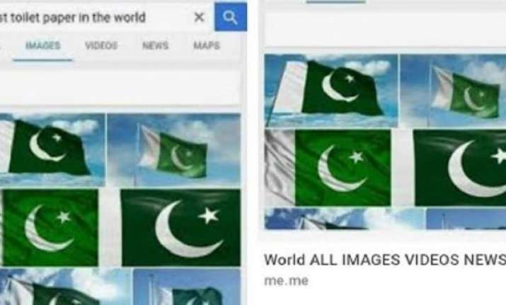 Google Shows Pakistan Flag When Searched For Toilet Paper
