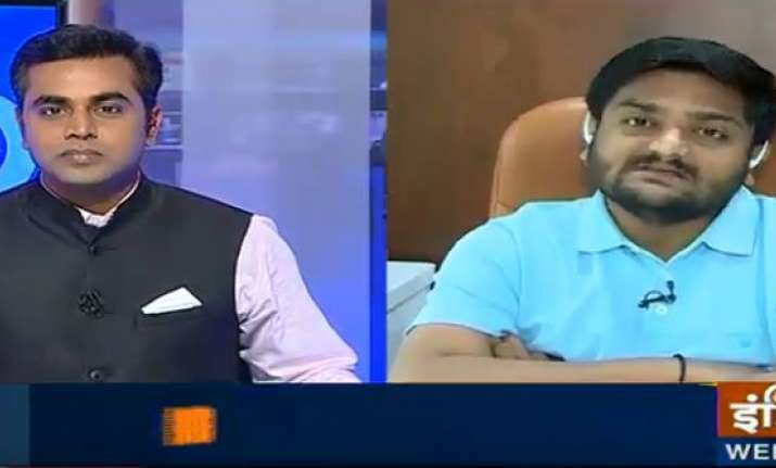 Hardik Patel in an exclusive interview with India TV