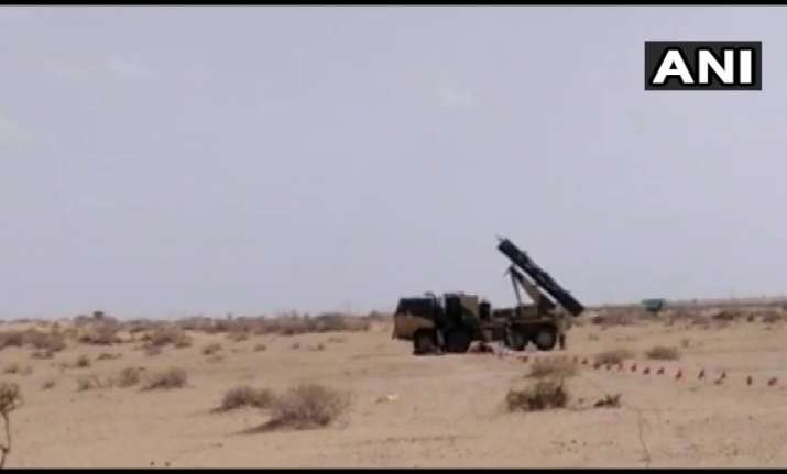 India successfully test-fires guided rocket system 'Pinaka'