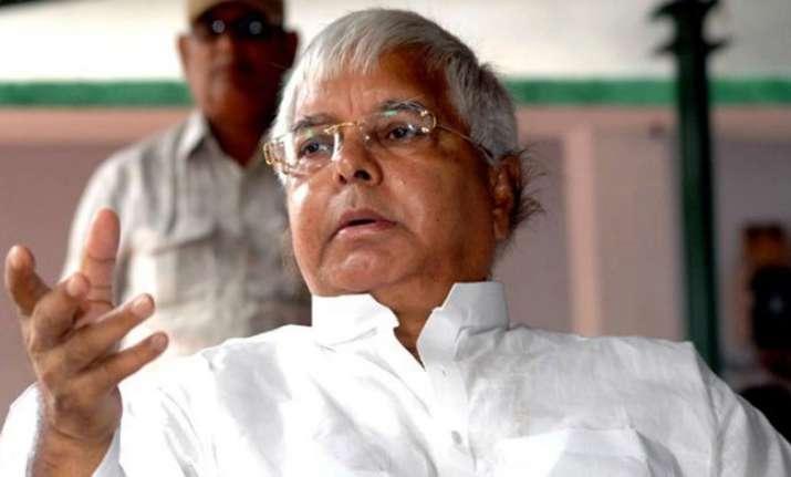 Rashtriya Janata Dal chief Lalu Prasad Yadav