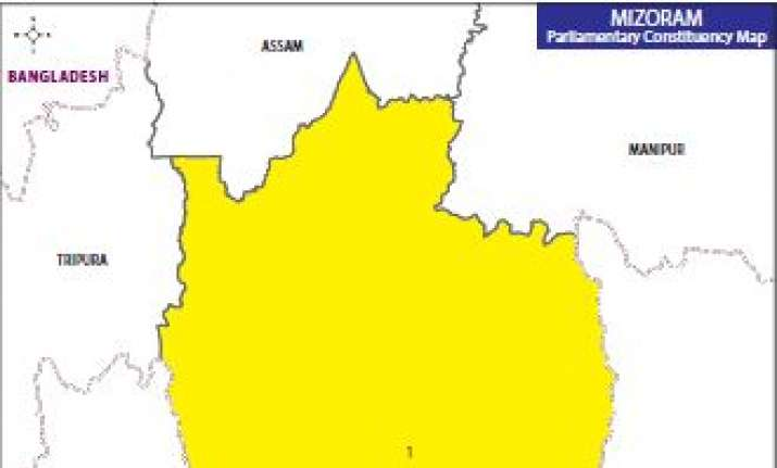 Map of Mizoram