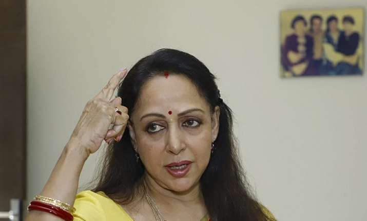 Bharatiya Janata Party candidate and sitting MP Hema Malini