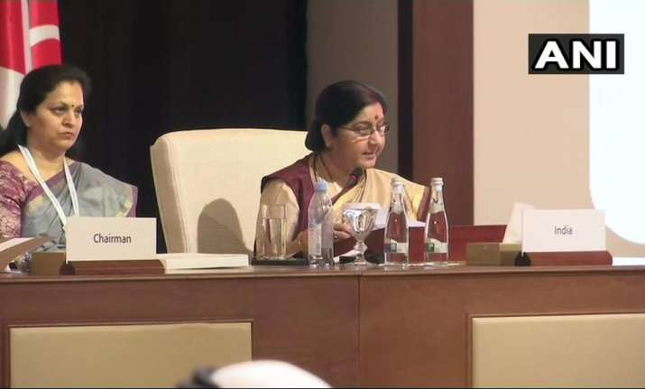Sushma Swaraj at OIC meeting