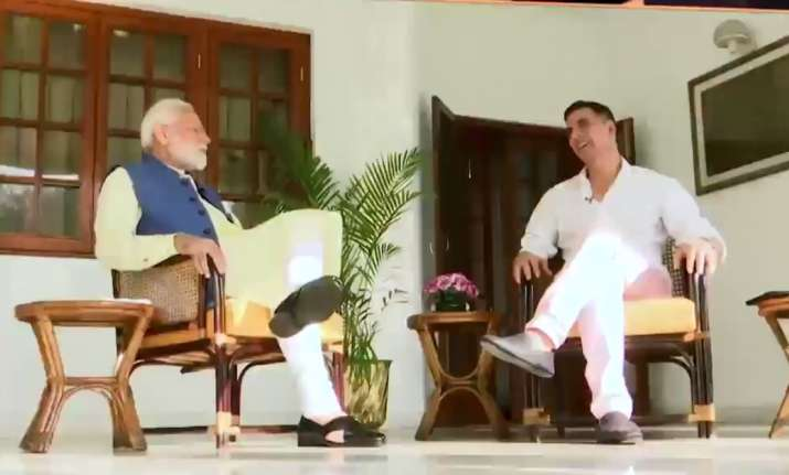 Image result for Akshay Kumar interviews Prime Minister Narendra Modi