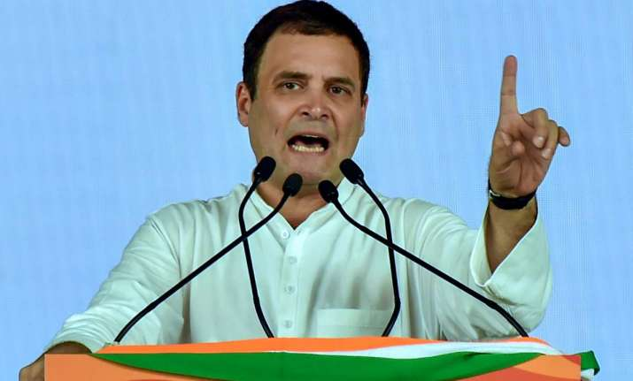 Congress President Rahul Gandhi Wednesday lashed out at