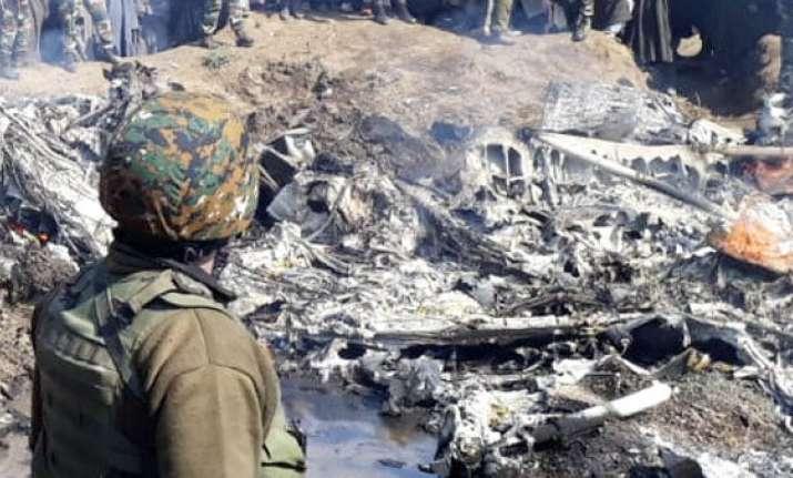 The crash site of the Mi 17 chopper in Srinagar   ANI