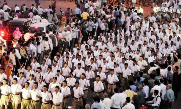 Six persons arrested for pelting stones at RSS camp