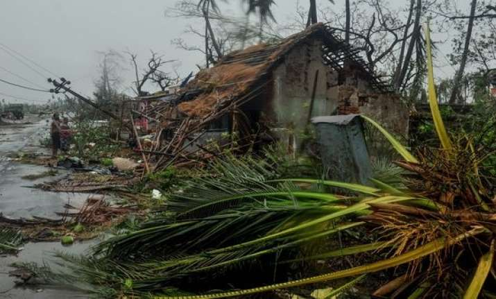 Destruction caused by cyclone Fani in Puri district of