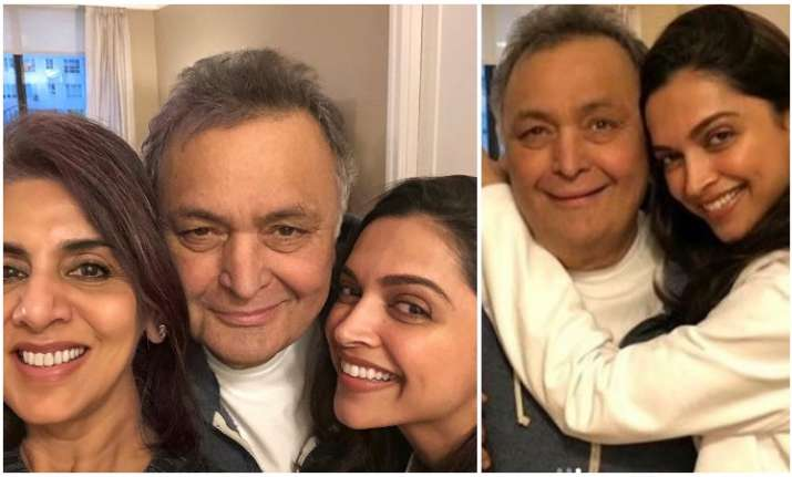 Pics: When Deepika Padukone visited Rishi Kapoor and Neetu