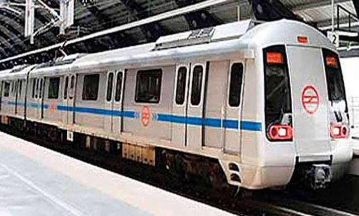 Services were briefly delayed on a section of Delhi Metro's