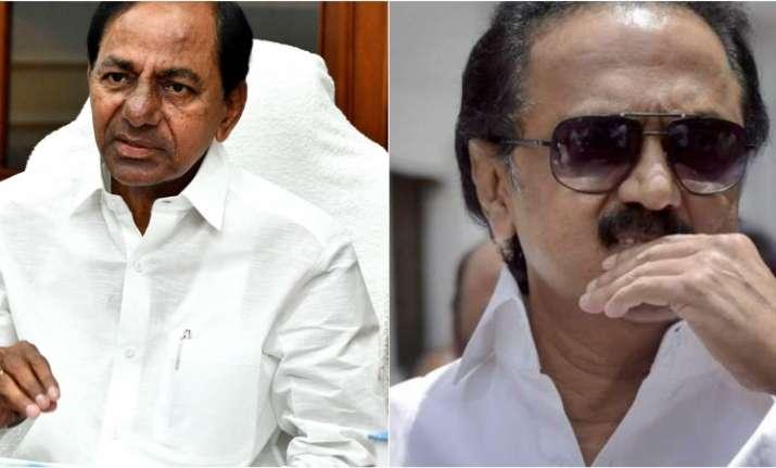 Telangana Chief Minister K. Chandrasekhar Rao and DMK