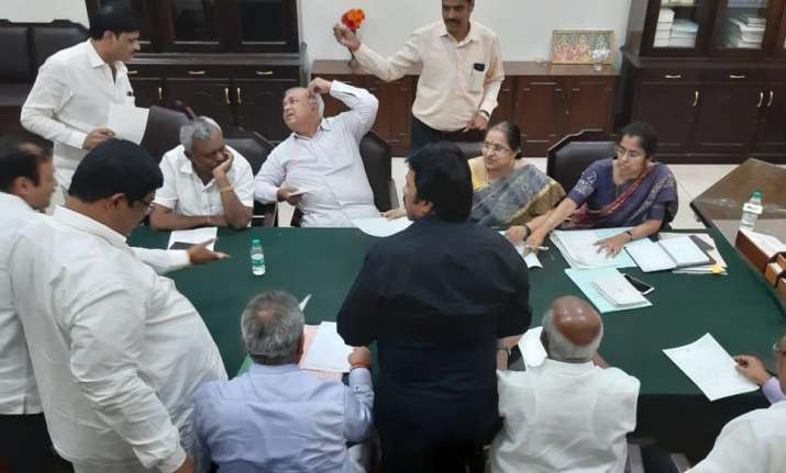 8 Congress and 3 JDS MLAs at Assembly speaker office
