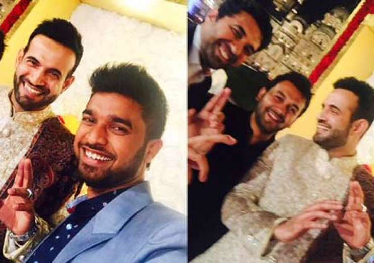 Irfan enjoying some cool moments with his friends at the wedding function. - India Tv
