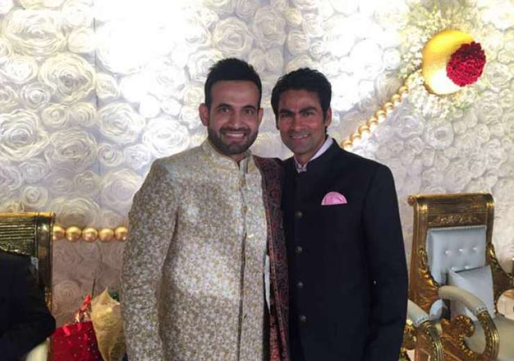 Mohammad Kaif too attended Irfan's reception. - India Tv