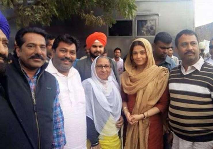 aishwarya rai along with sarabjit's sister daljit kaur - India Tv
