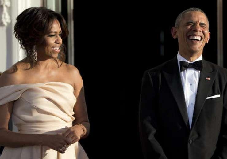 Michelle Obama stunned in Indian-American fashion designer Naeem Khan creation - India Tv