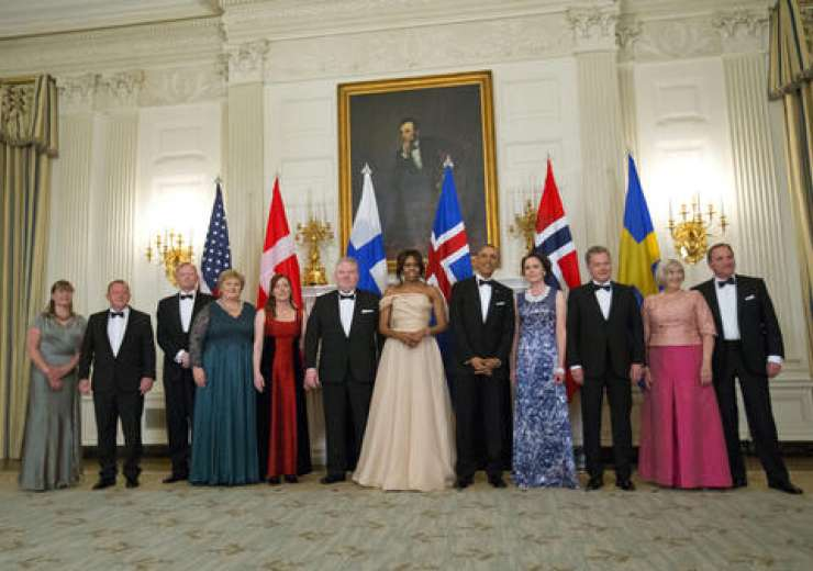 With Nordic leaders and their spouses, during a photograph - India Tv