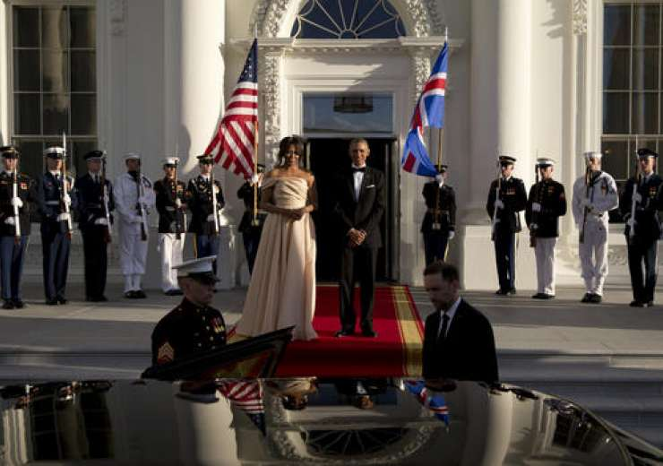 They pose together at the North Portico of the White House in Washington - India Tv