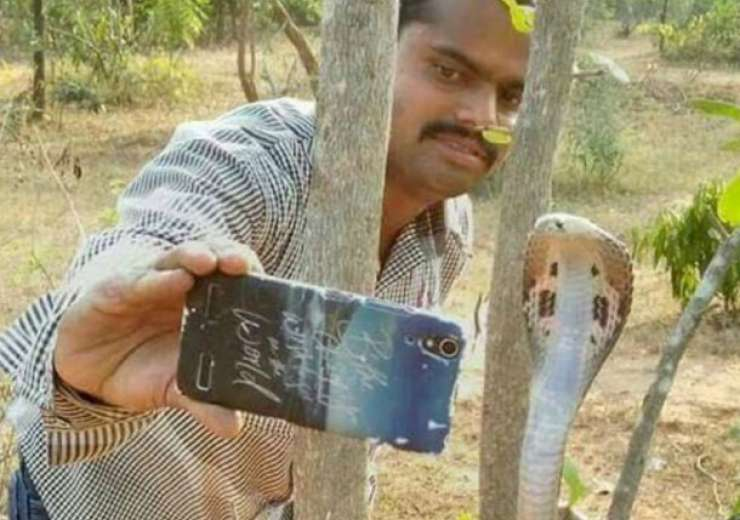 Man clicking selfie with snake - India Tv