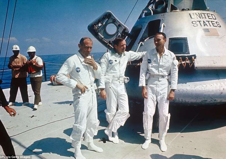 Astronauts Neil Armstrong, Michael Collins and Edwin 'Buzz' Aldrin - India Tv