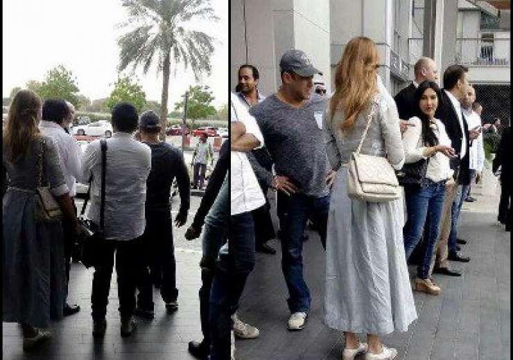 Salman Khan and Iulia Vantur at Dubai Airport - India Tv