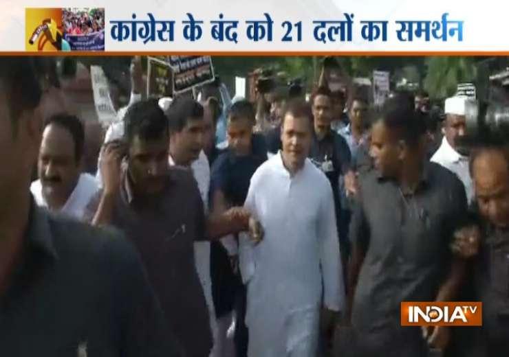 Bharat Bandh, Rahul Gandhi, Congress march - India Tv