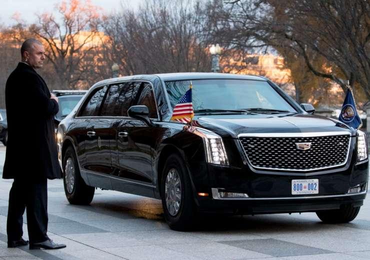 President Trump limousine the beast trump in india - India Tv