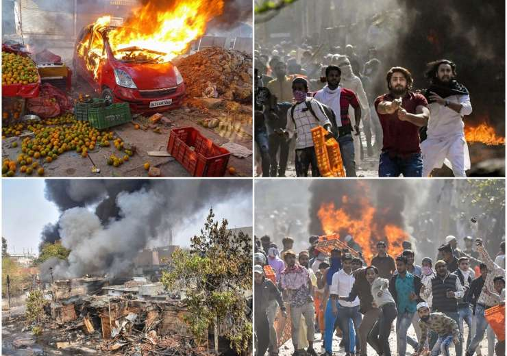 Violence in northeast Delhi. - India Tv