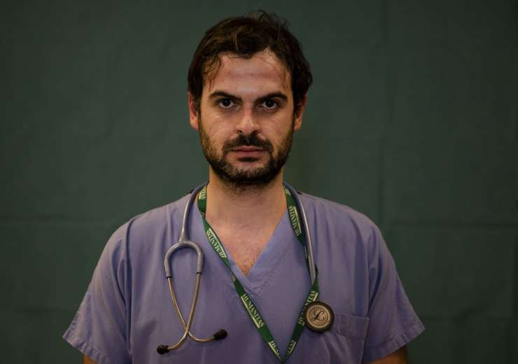 Alessandro D'Aveni, 33, an oncologist working in the COVID sub-intensive care unit at the Humanitas - India Tv