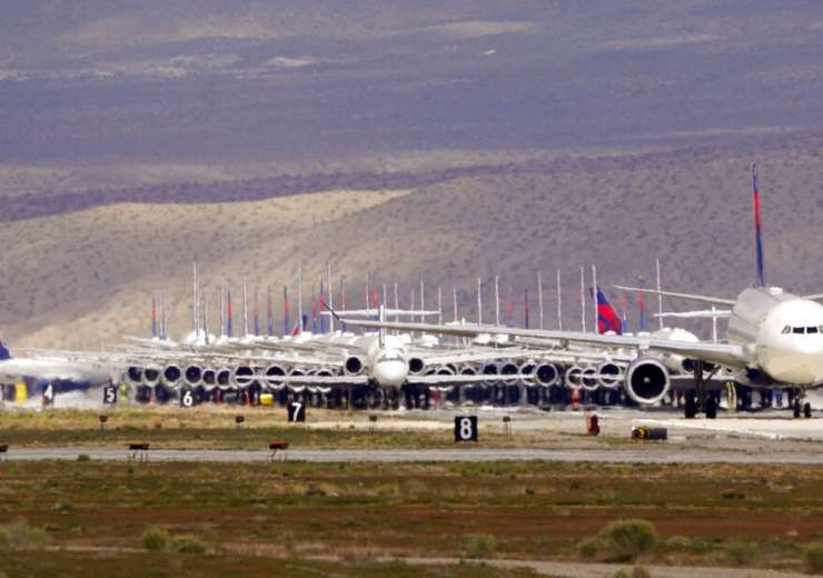 Coronavirus Outbreak Airline Planes Parked photos aviation news, airlines news, business news - India Tv