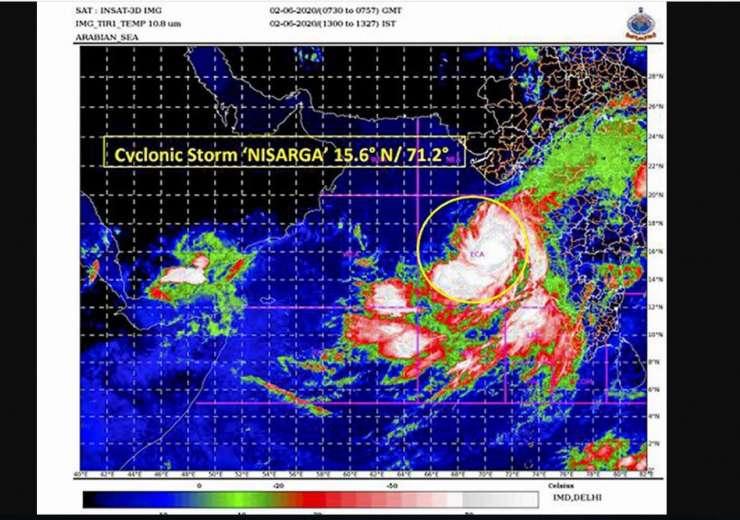 Cyclone Nisarga satellite image IMD - India Tv