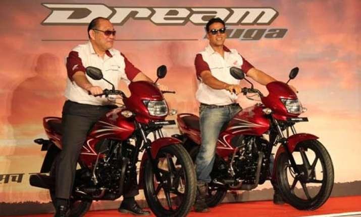 a peek into 2013 honda dream yuga motorcycle