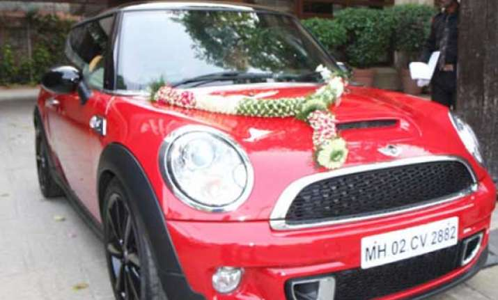 see how aaradhya bachchan s mini cooper looks from inside