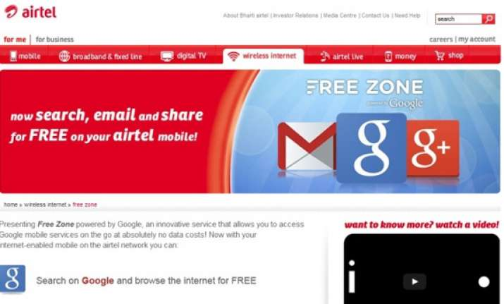 airtel ties up with google to offer free search google and