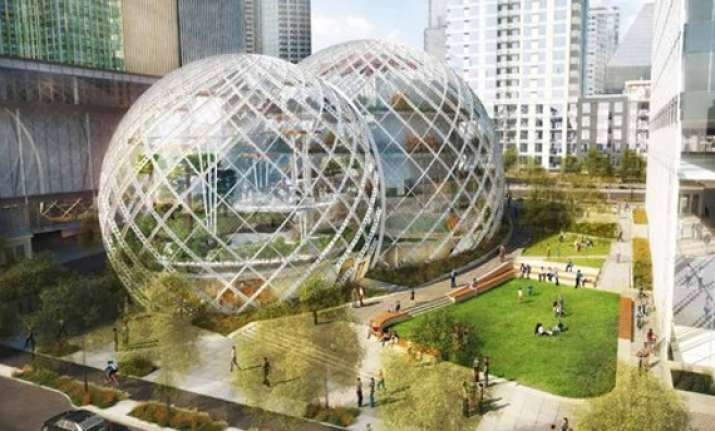 amazon plans greenhouse style headquarters in seattle