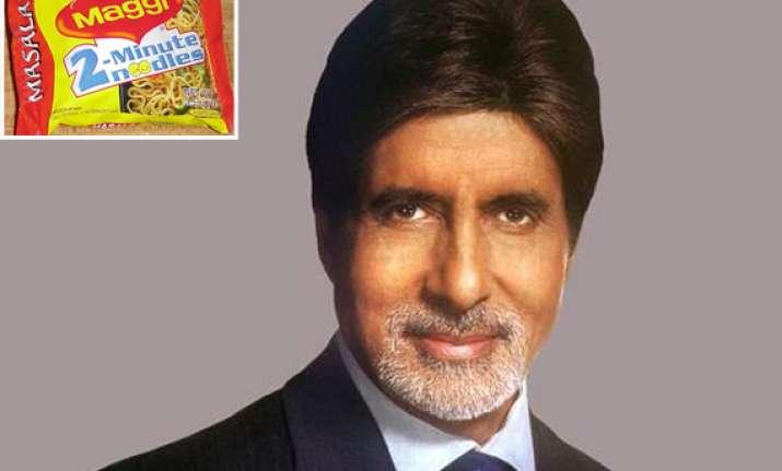 amitabh bachchan to endorse maggi noodles