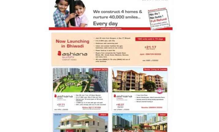 ashiana housing launches ashiana surbhi in bhiwadi