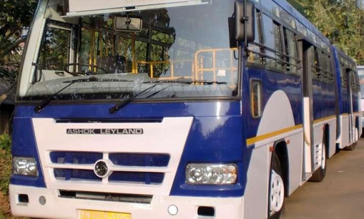 ashok leyland bags first overseas order for vestibule buses