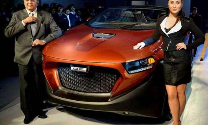 auto expo 2014 dc design unveils tia hatchback and eleron