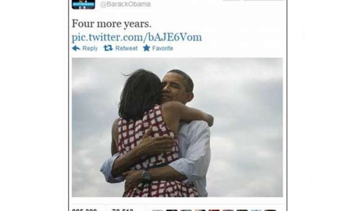 barack obama announces four more years with tweet