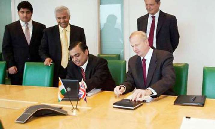 british petroleum ril form jv for natural gas