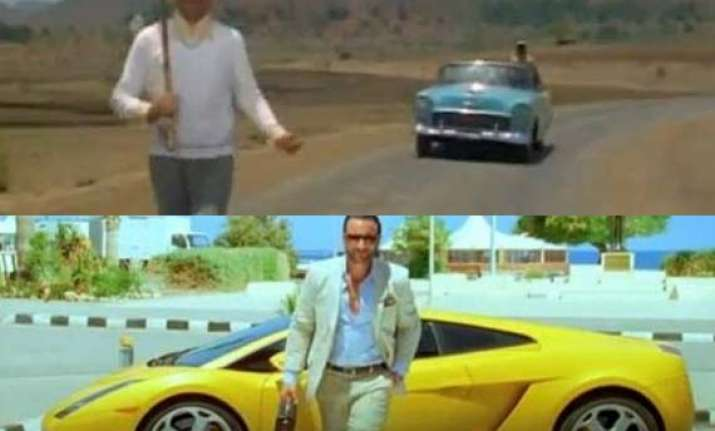 cars in bollywood movies then and now