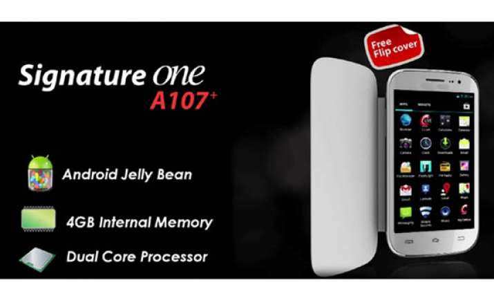 celkon a107 signature one launched at rs 7 299