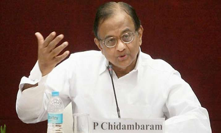 chidambaram presents national budget says no need for gloom