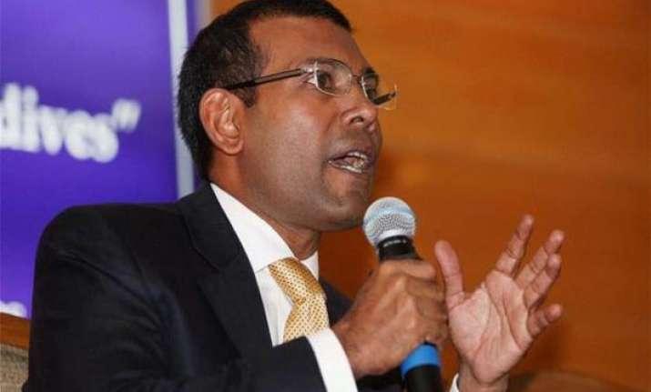 ex maldives president terms govt xenophobic gmr says not