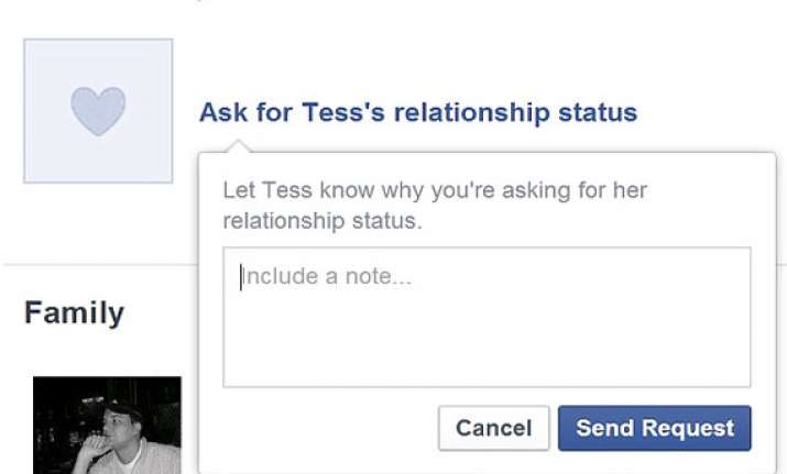 facebook adds a button to ask for other s relationship